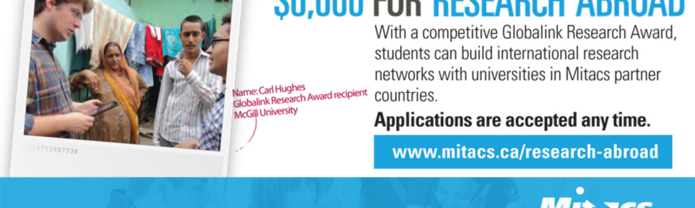Mitacs Globalink Research Award for 2019